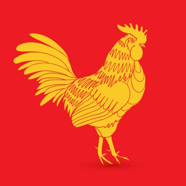 Traditional yellow gold rooster
