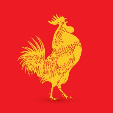 Chinese traditional rooster symbol