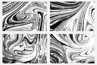 Set of ink marbling textures