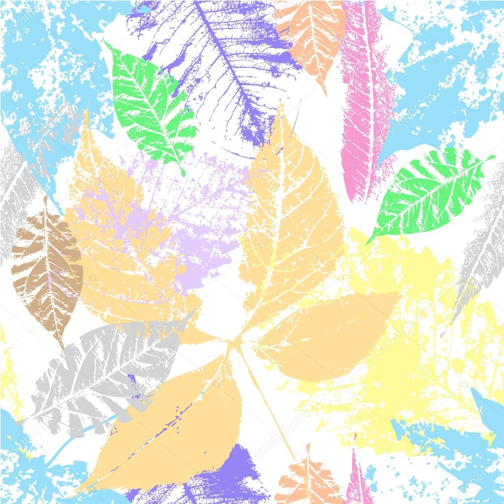 Bright background  autumn leaves