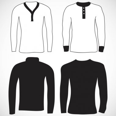 T shirt and long sleeve template.
