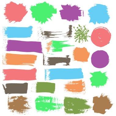 Ink grunge stains