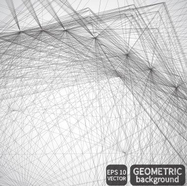 Black and white geometric background