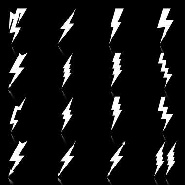 Lightning icons set