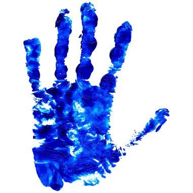 Blue Grunge Handprint