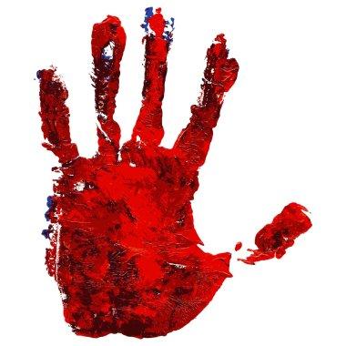 Red Grunge Handprint