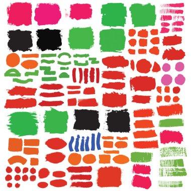 Set of brushes ink elements