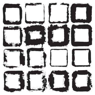 Sckratched rectangular frames