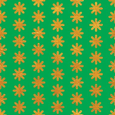Seamless pattern background on green,