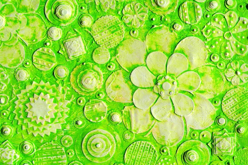 summer green hawaiian floral pattern