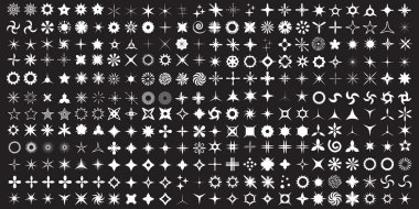Super Set of vector sparkles icon set.