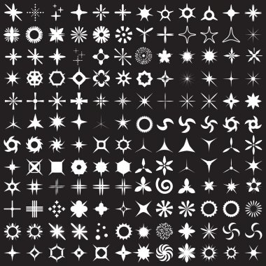 Super Set of vector sparkles icons.