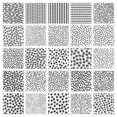 Vector set of seamless patterns.