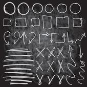 Chalk circle set, scribbles