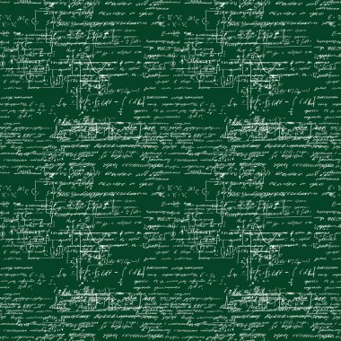 Seamless pattern of mathematical operation and equation, endless arithmetic pattern.