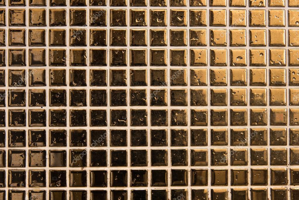 Gouden Mozaiek Tegels : Gouden tegels mozaïek u stockfoto aon