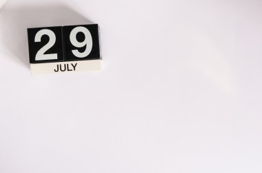 July 29th. Image of july 29 wooden color calendar on white background. Summer day. Empty space for text. System Administrator Appreciation Day