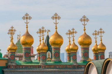 Domes Terem Palace Churches, Temple of Deposition Robe, Moscow Kremlin
