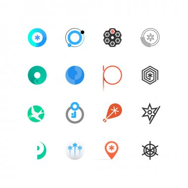 A set of simple and stylish geometrical logos