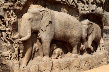 Bas-relief sculpture in Mammallapuram