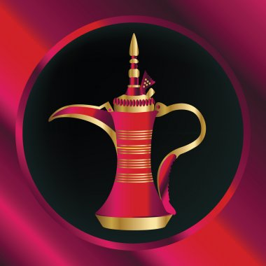 Ruby Red And Gold Arabian Teapot
