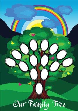 "Картина, постер, плакат, фотообои ""blank kids family tree - генеалогия - четыре поколения "", артикул 82776960"