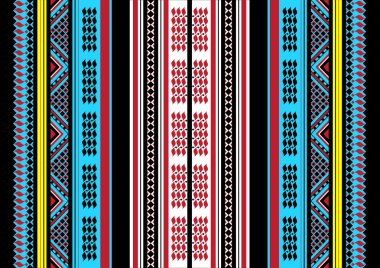 Traditional Handcrafted Romanian Etno Style Fabric Patterns