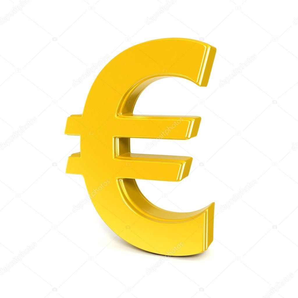 Alt n parlak euro simgesi zerinde beyaz izole stok foto - Stock piastrelle 2 euro ...