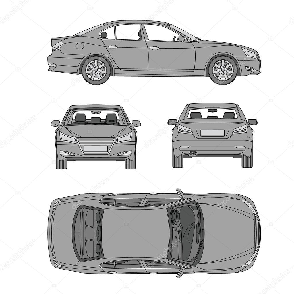 ligne de la voiture tirer quatre tous vue dessus dommages assurance loyer mod le de formulaire. Black Bedroom Furniture Sets. Home Design Ideas