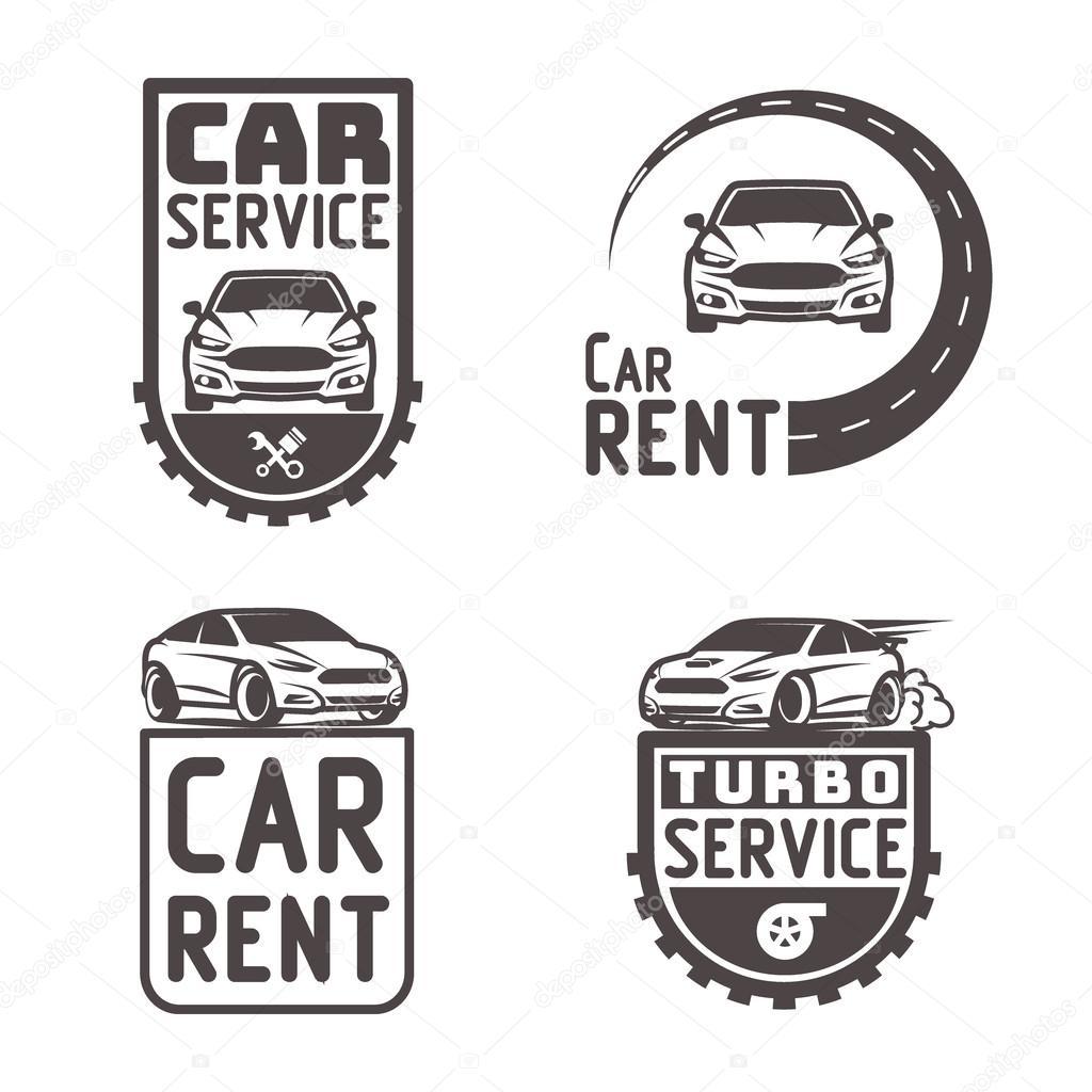 Reparación de automóviles Alquiler de coches logotipo plantilla ...