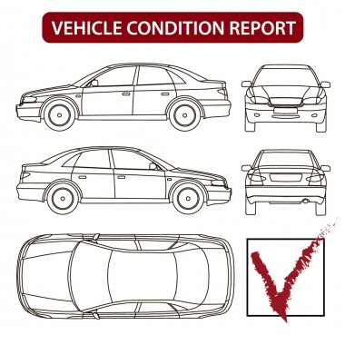 Car line draw insurance, rent damage, condition report form
