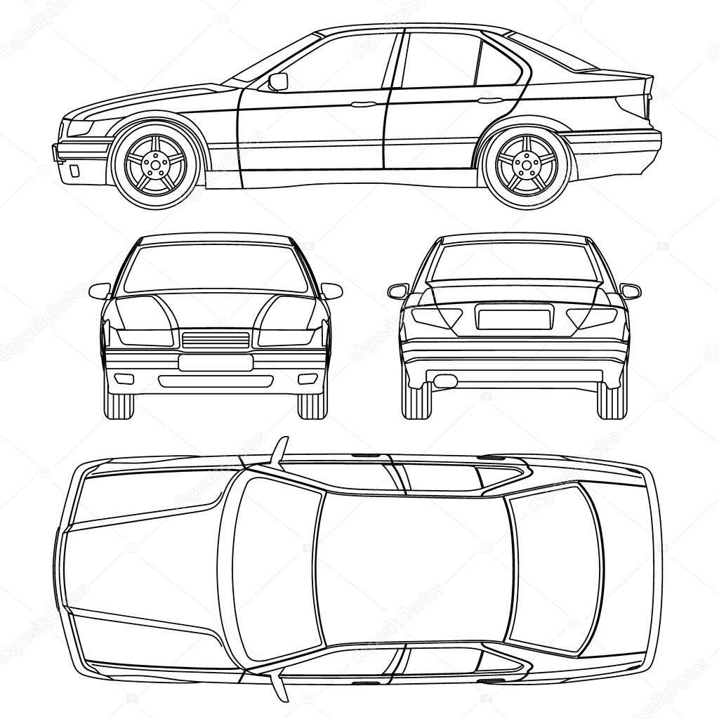 Line Drawing Vehicles : Rental car damage sheet imageresizertool