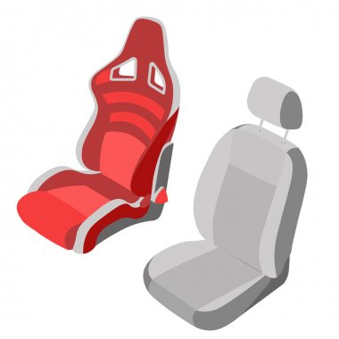 Isolated Car Seat set