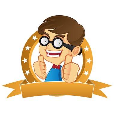 Nerd Geek giving thumbs up
