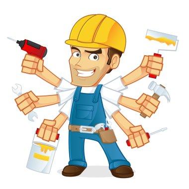 Handyman Mascot Vector