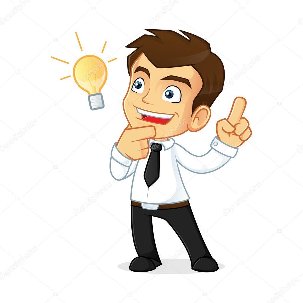 Imágenes Idea Hombre De Negocios Pensando Y Teniendo La Idea