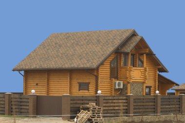 New log house.