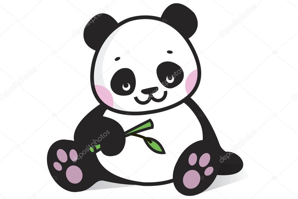 baby panda — stock vector © polakx 60203239