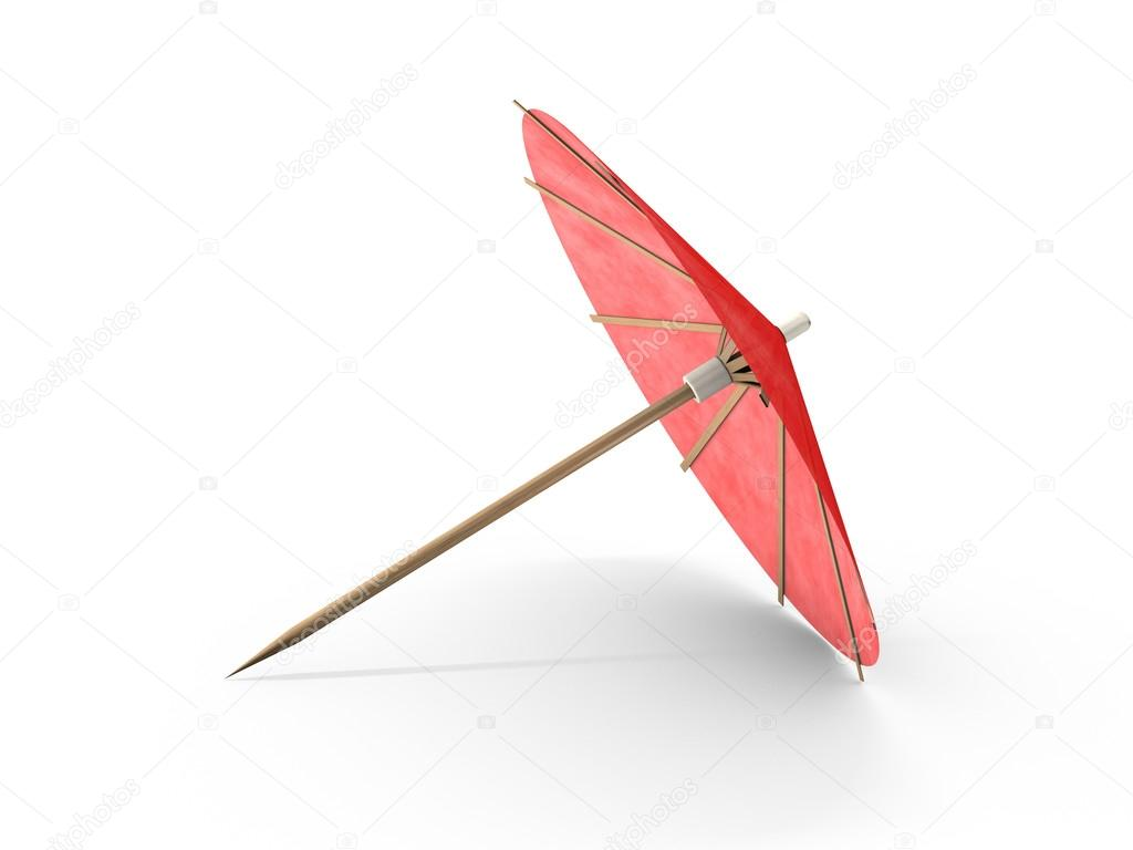 Cocktail Umbrella Isolated On White Background U2014 Photo By Polakx