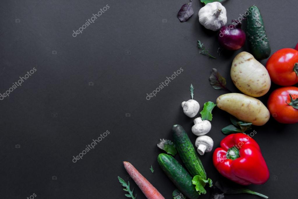 vegetables on the table