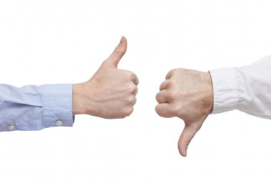 Two executives or businessmen disagreeing over a deal or contrac