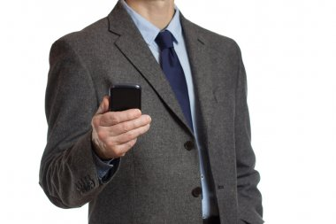 Businessman with a smartphone