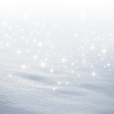 Bright snow background with star lights raining down stock vector