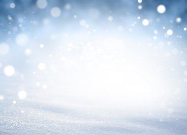 Magic winter snowstorm