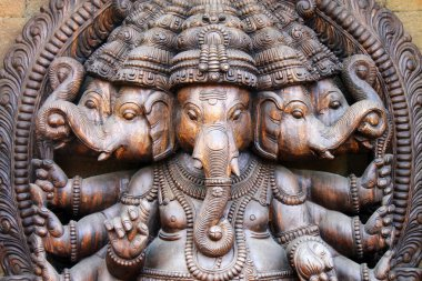 Sculpture of hindu god Ganesha stock vector