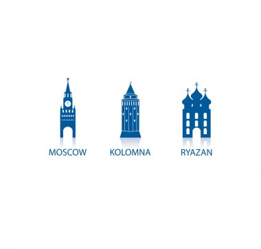 Russian towns icons