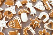 Photo Christmas gingerbread background