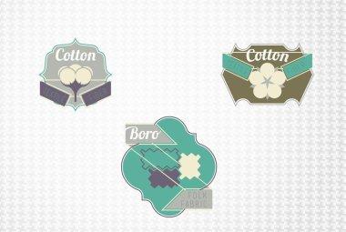 Textile fiber set: cotton, boro.