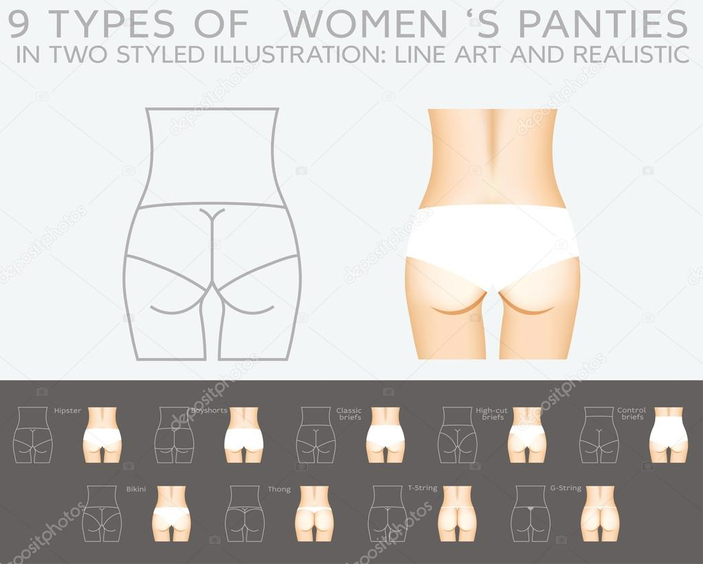 Underwear Vector Set 9 Types Of Women S Panties Stock Vector C Vectorielle 60447395