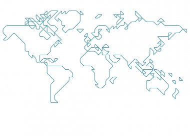 World map drawn